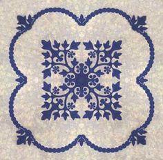 Lei Kukui Hawaiian quilt pattern
