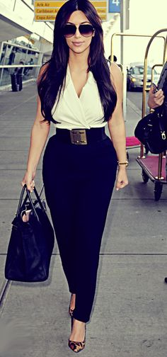 ignore that this is a kardashian. Making the most of a short waist.