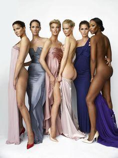 Stephanie Seymour, Christy Turlington, Linda Evangelista, Claudia Schiffer, Cindy Crawford & Naomi Campbell by Mario Testino, 2008