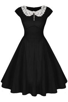 1940s Dress Styles Audrey Hepburn Style 19d0s Rockabilly Evening Dress $26.50 AT vintagedancer.com