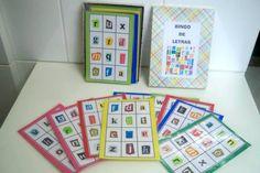 cartelas bingo letras - Atividades para Educação Infantil