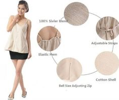 Maternity Clothes, Cotton Camisole with Silver Blend Radiation Shield, One Maternity Size, Color Beige, Ultimate Must Have For Your Pregnancy, Dresses # 8901938 OURSURE.COM. $178.98
