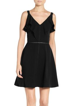 Main Image - Adelyn Rae Fit & Flare Dress