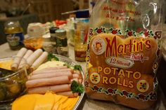 Martin's Sandwich Potato Rolls are perfect for party trays!