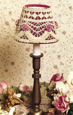 ELEGANT Victorian Mini Lampshade/Decor/Crochet Pattern Instructions picclick.com