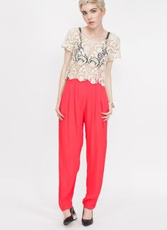 Tomato Soft Trouser by Line & Dot