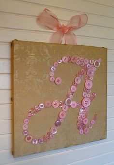 Baby Girl Vintage Style Nursery Button by letterperfectdesigns, $90.00