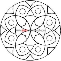Free coloring pages of mandala per bambini Mandala Art, Mandala Drawing, Mandala Pattern, Mandala Design, Easy Mandala, Stained Glass Patterns, Mosaic Patterns, Embroidery Patterns, Mandalas For Kids