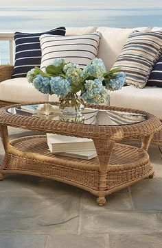 The Classic Wicker Collection by Summer Classics® offers the vintage look of traditional wicker, updated with the durability of all-weather high-quality resin wicker materials.