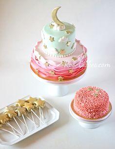 Twinkle Twinkle Little Star Party Cake, Cake Pops & Smash Cake | RoseBakes.com