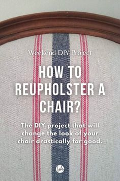 What is the easiest way to reupholster a chair? What materials do you need? What kind of fabric to use?In this article, I will show you two different techniques to reupholster a chair, with attached and removable seats. #upholstery #reupholstery #DIY #interiordesign #furniture #design #homedecor French Furniture, Furniture Design, Inspiration Room, Antique Furniture Restoration, Diy Ideas, Decor Ideas, French Style Homes, Room Interior Design, French Decor