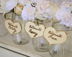 a place to put the bouquets when you get the the reception to decorate the venue