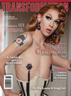 #Transformation Magazine Issue 95 is all about #fashion & #fetish. #Drag race winner and vintage fetish queen Violet Chachki, Cici Fetish Doll, #latex fantasy girl Nicci Tristan, #TS Mayumi, #glamour 101 and more.