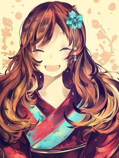 500 Years In the Future by shelliihe on DeviantArt. Manga Mädchen in Kimono. Manga Kawaii, Kawaii Chibi, Kawaii Girl, Pretty Anime Girl, Beautiful Anime Girl, I Love Anime, Kamisama Kiss, Manga Girl, Anime Art Girl
