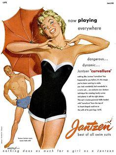 Jantzen #vintage #bathing #suit #ad
