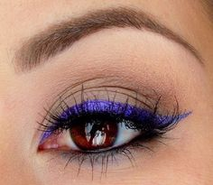 eye makeup. perfect purple