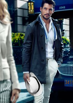 """David Gandy for Massimo Dutti """"NYC collection"""" spring 2014 campaign"""