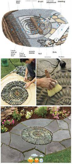 mosaik gartenweg anleitung zum nachmachen trittstein. Black Bedroom Furniture Sets. Home Design Ideas