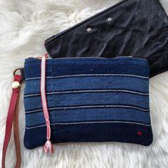 Little blues. #vintagejapaneseindigo #handmadebag #madeinboulder #writlet #handmadeclutch