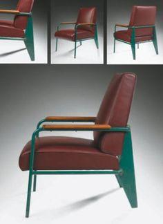 Ventes aux enchères Paris Jean PROUVE (1901-1984) Rare et exceptionnel fauteuil, 1939 Structure tubu