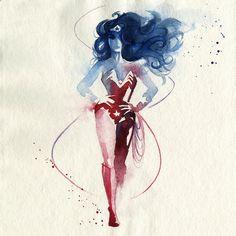 A designer industrial francesa Clémentine, que virou ilustradora sob o nome de Blule, criou uma nova série maravilhosa de pinturas em aquarela dos super-heróis mostrados nas histórias em quadrinhos.