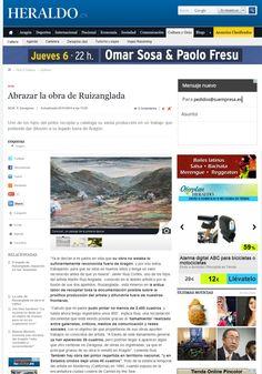 Prensa 2014 11 02 Heraldo de Aragón edición digital - Abrazar la obra de Ruizanglada 001