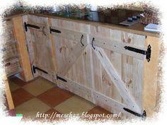 Meseház: Ajtók a konyhabútorra Garage Makeover, Buffet, Woodworking, Cabinet, Storage, Kitchen, Furniture, Home Decor, Clothes Stand