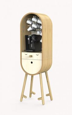 Presented at the 2014 Moscow and Homi Milan 2015, this micro mobile kitchen, LoLo,  was created by Russian designers Misha Rapin and Tanya Repina, inspired by the need to put a kitchen in the workplace, a sort of small bar at home or in hotels.