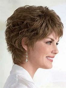 Image result for short Layered Hairstyles for Women Over 50 Wash and Go