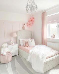 Little Girl Bedrooms, Pink Bedroom For Girls, Pink Bedrooms, Pink Room, Big Girl Rooms, Girls Princess Bedroom, Blush Pink Bedroom, Teen Bedrooms, Girl Bedroom Designs
