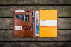 IPad Mini and Large Moleskine Cover-Brown