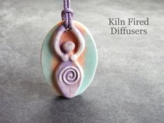 3D Goddess Essential Oil Diffuser Pendant by KilnFiredDiffusers