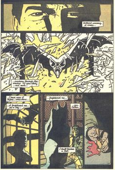 """A bat! It's an omen! Enhanced by smashing through the window! (Taken from the """"Batman: Year One"""" storyline written by Frank Miller.) But bats have radar senses! Shouldn't they be able to """"see"""" glass? (You'd think the writer of """"Daredevil"""" would know that. A later writer would establish that this bat was """"blinded"""" by Kirk Langstrom in research for his Man-Bat serum.)"""