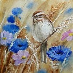 Art: Meadow Flowers by Artist Paulie Rollins