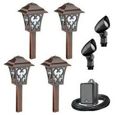 Malibu Aurora 6pc Led Coach Style Light Kit Bulbs Low Voltage Outdoor Lighting