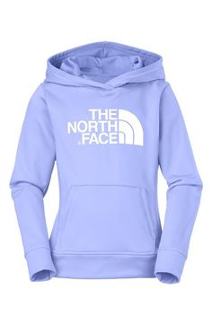 The North Face 'Logo Surgent' Fleece Pullover Hoodie (Little Girls) available at #Nordstrom