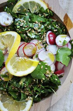 Replace spinach with a more balanced yin-yang leafy green and this spring detox salad is macro. | gourmandelle.com