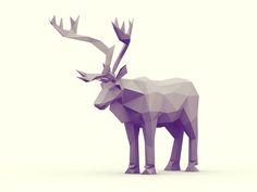 Low-Poly [Animal Kingdom] by Timothy J. Reynolds, via Behance