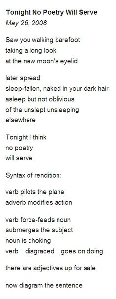Adrienne Rich  There seems to be more going on then I currently see.