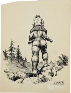 Robert Crumb Women | Robert Crumb Unpublished Whiteman Meets Bigfoot Illustr