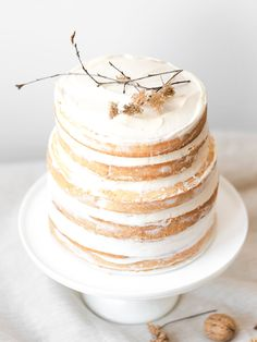 GF Passion Fruit and Coconut Exotic Naked Cake