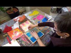 ▶ Acrylmalerei Monotypie Gelatineplatte Anleitung Teil 2 - YouTube