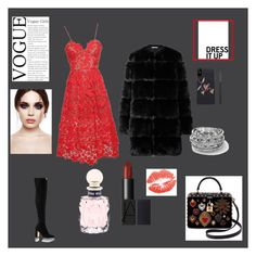 """""""Untitled #41"""" by sassyshab on Polyvore featuring self-portrait, Givenchy, Dolce&Gabbana and Miu Miu"""