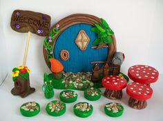Hobbit Door 4 Fairy Garden Kit Hobbit Garden by KCCottageCreations