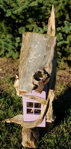 Driftwood Fairy House by FaeryGrrlGardens on Etsy