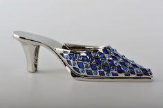 Faberge Ladies shoe trinket box Swarovski Crystal