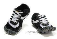 Vibram Five Fingers Speed Shoes Black White For Men .