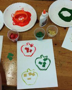 Preschool Apple Print and Collage