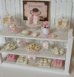 RESERVED  Miniature Shabby Chic Bakery by CynthiasCottageShop
