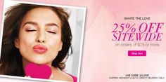 #Avon #Save 25% OFF Sitewide on orders $75 or more - Use Code: 25LOVE - Expires Midnight 2/6/15 - Direct Delivery Only - www.youravpn.com/gkuper